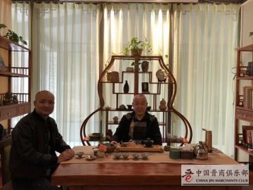 晋商彭晋峰与刘文斌在京交流中国晋商俱乐部工作