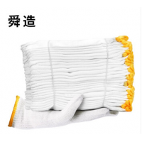 舜造线手套本白棉纱